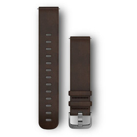 Garmin Bracelets en cuir à attache rapide 20mm, brown/silver